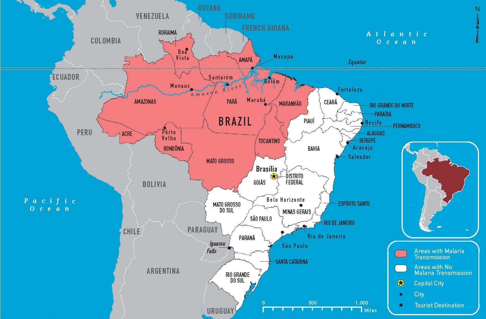 brasil kart Brasil malaria kart   Malaria Brasil kart (Sør Amerika   Amerika) brasil kart