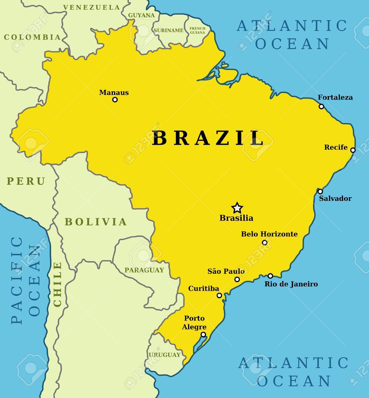 brasil kart Brasil store byene kart Store byer i Brasil kart (Sør Amerika  brasil kart