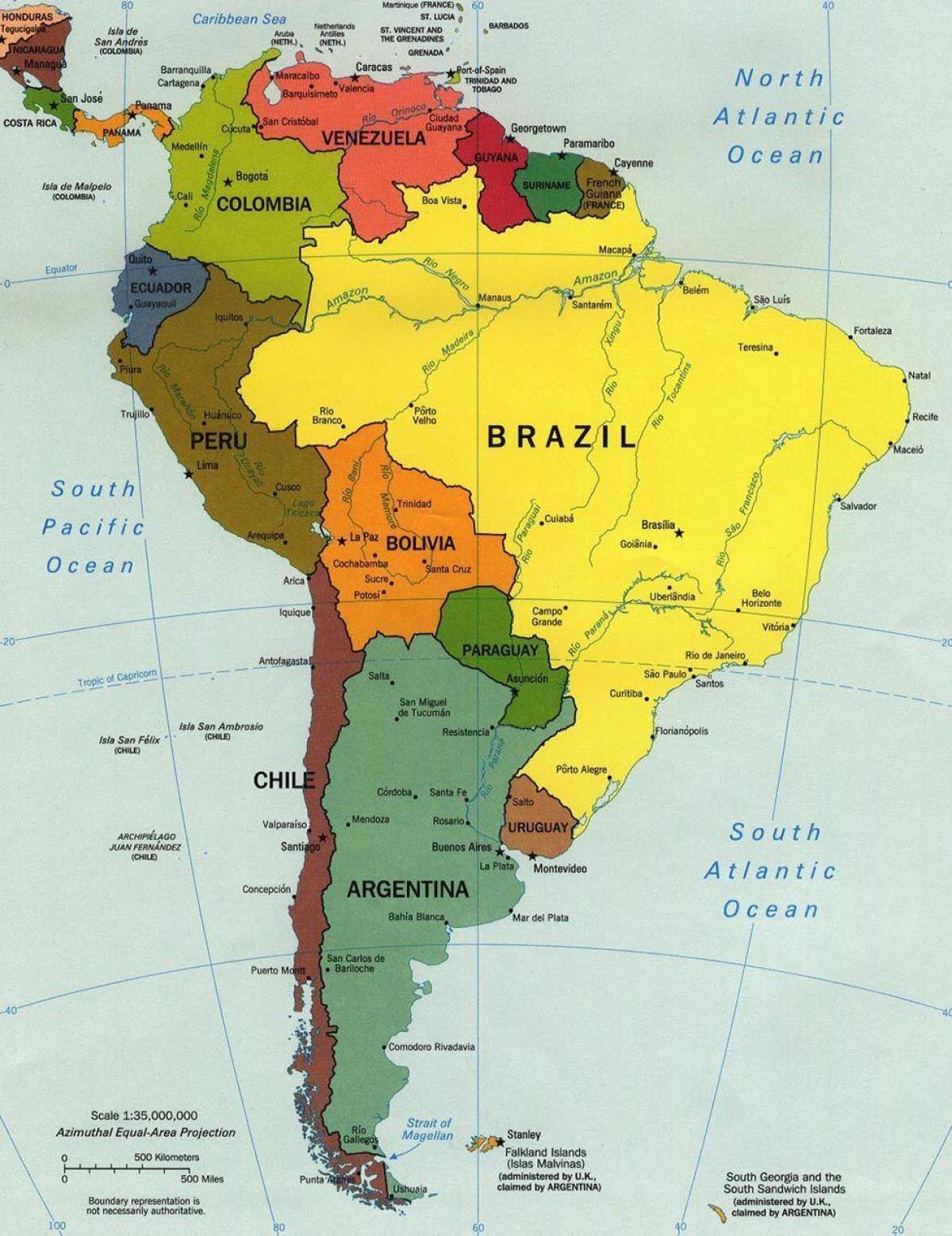 kart over amerika Merket kart over Brasil   Kart over Brasil merket (Sør Amerika  kart over amerika